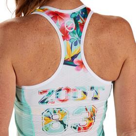 Zoot LTD Tri Racerback Mujer, Turquesa/Multicolor